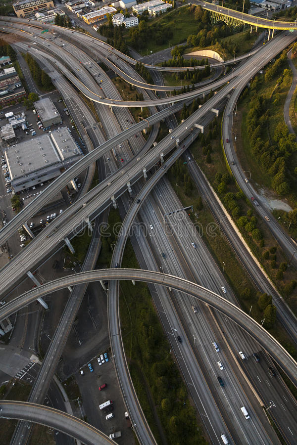 Download Aerial Photograph American Freeway Intersection Stock Photo - Image of travel, transport: 35133040
