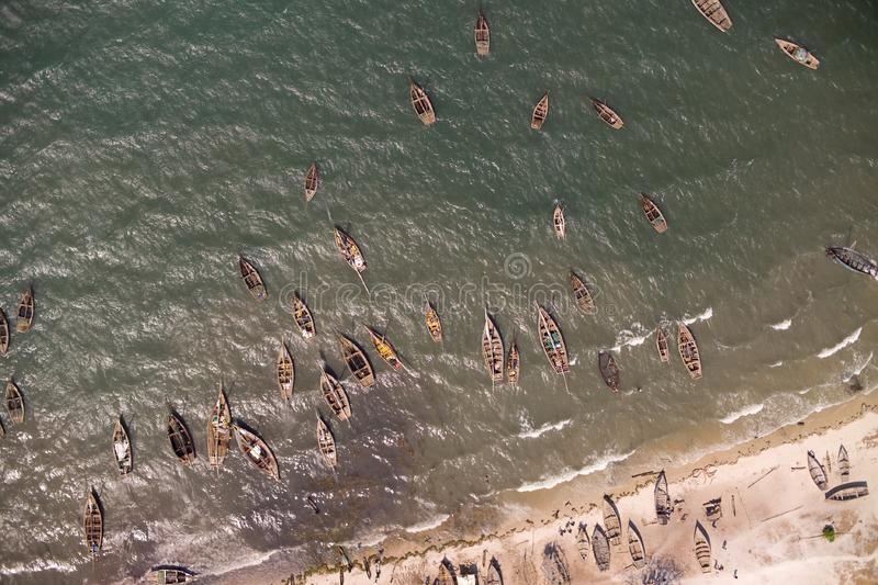 Download Aerial Photograph Fishers Boats In The Water In ? Stock Photo - Image: 7963446