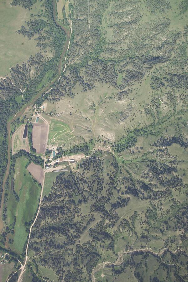 Aerial Photograph, Samuel R McKelvie National Forest stock photo