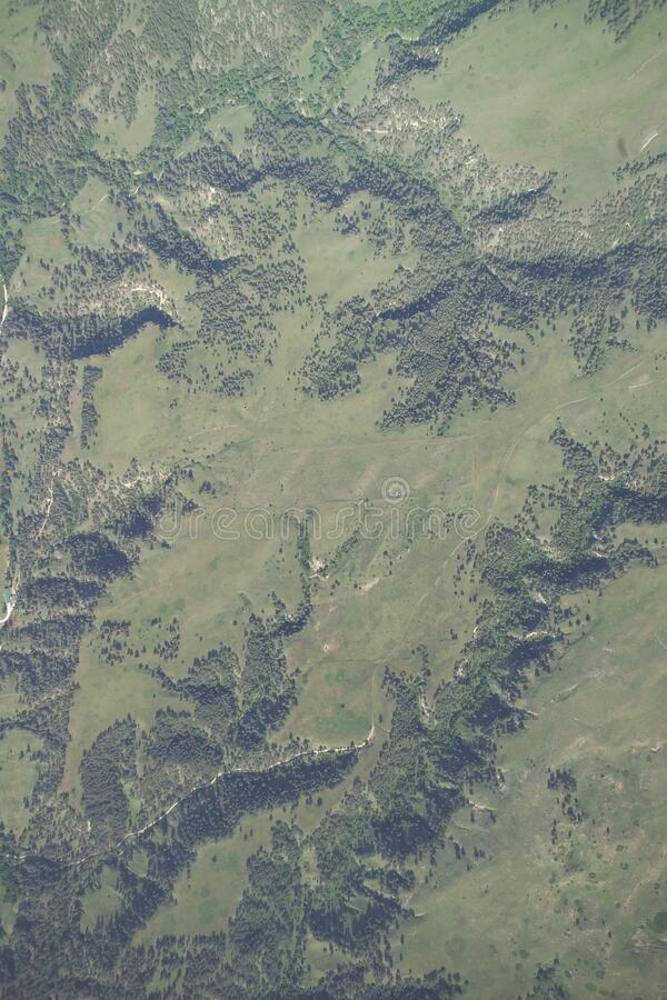 Aerial Photograph, Samuel R McKelvie National Forest royalty free stock photography