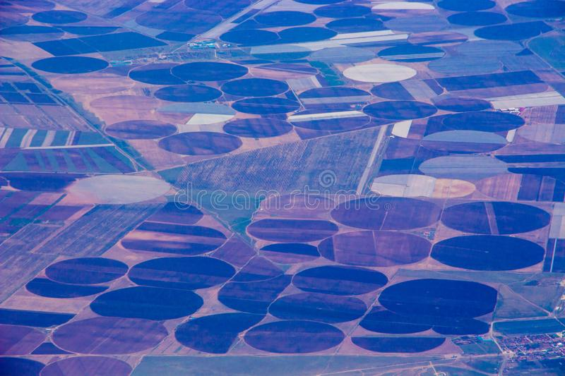 Aerial photography of agricultural land stock images
