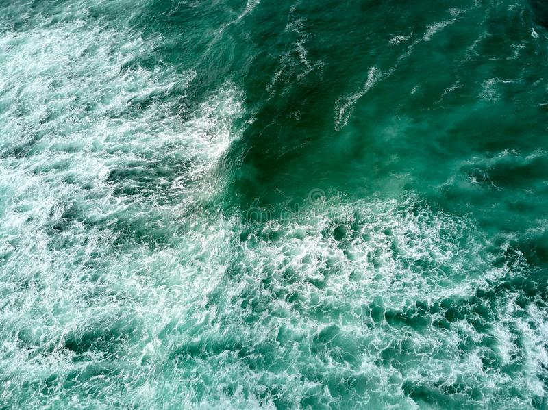 Aerial Photography of Athlantic Ocean and Tall Sea Waves stock image