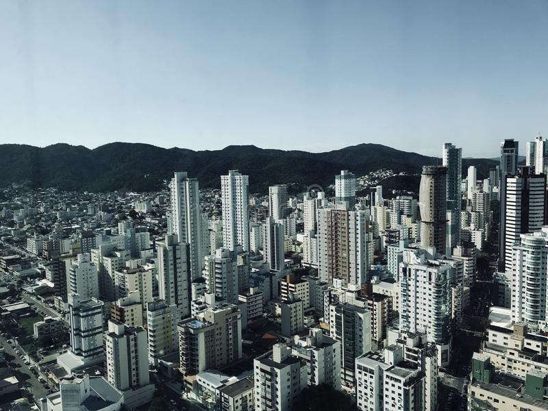Aerial Photography Of City Building royalty free stock images
