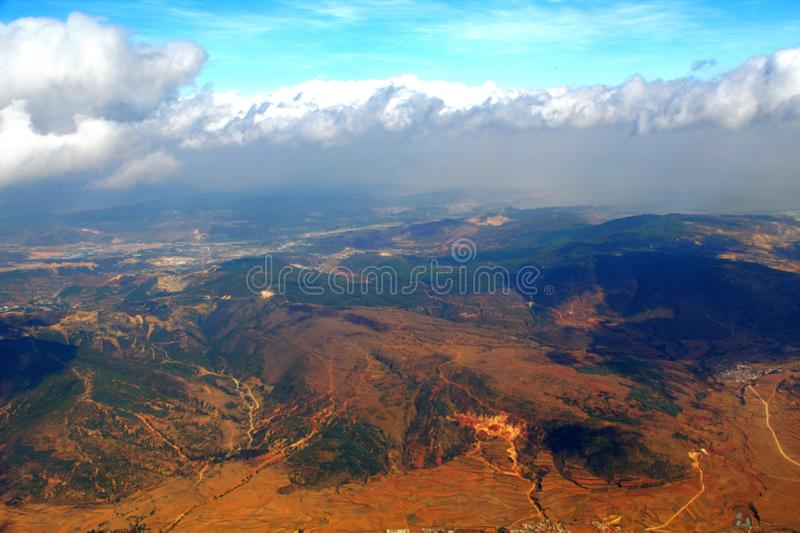 Download Aerial Photography And Clouds Stock Image - Image: 12063247