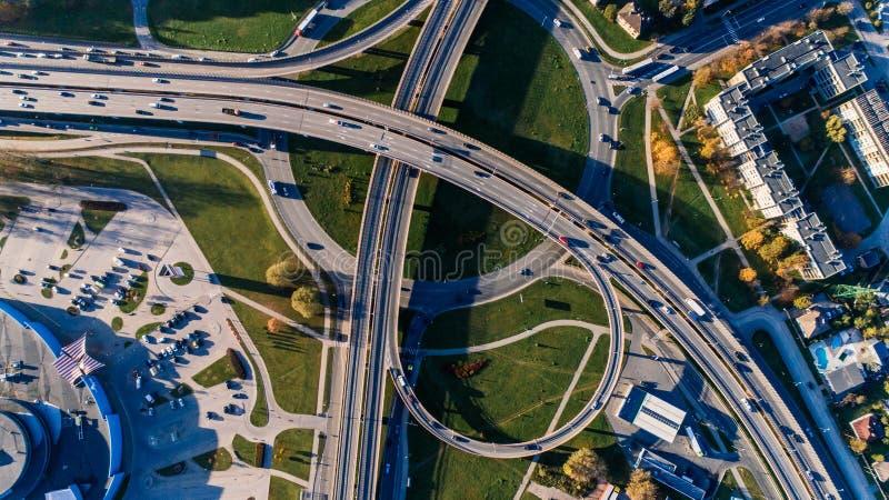 Aerial Photography of Concrete Bridge royalty free stock image