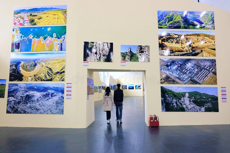 Aerial Photography Exhibition stock photo