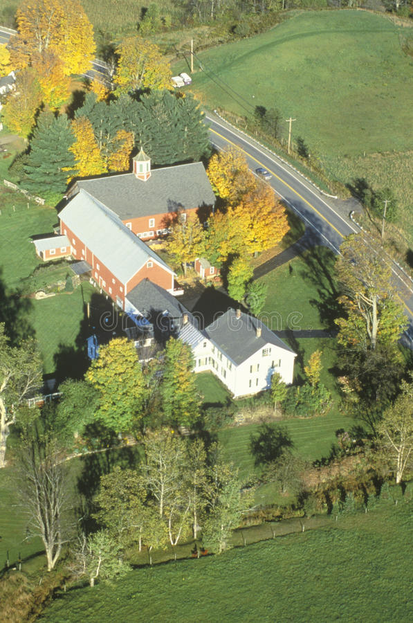 Download An Aerial Photography Of A Farm Stock Image - Image: 26254191