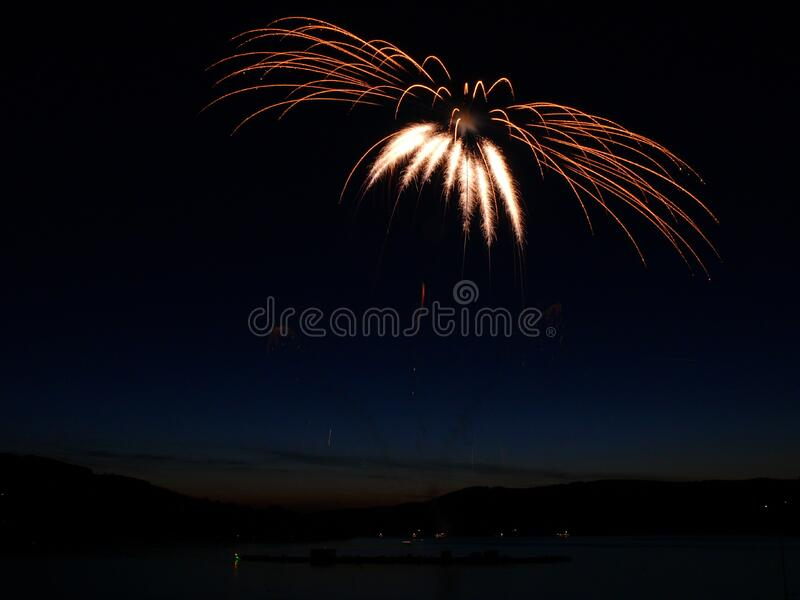 Aerial Photography of Fireworks Display during Night Time stock photos