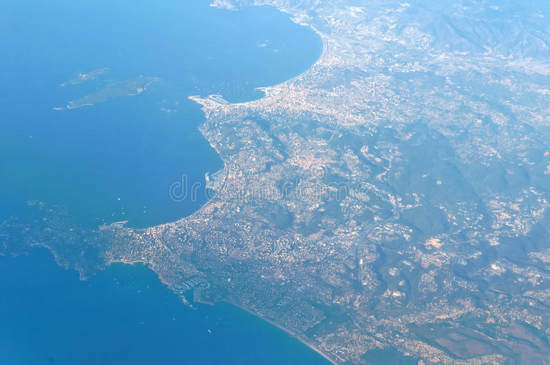 Aerial Photography France Royalty Free Stock Photography