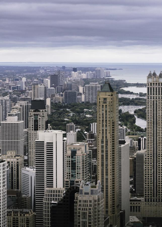 Aerial Photography of High Rise Buildings royalty free stock photos