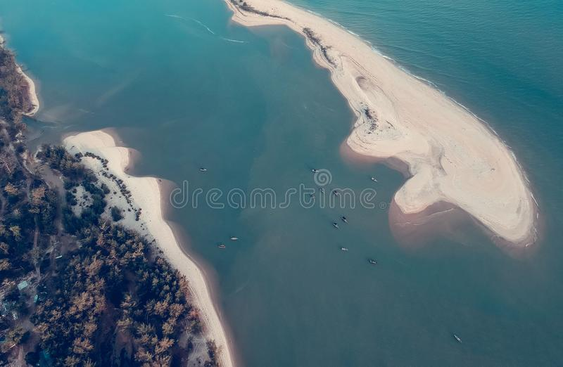 Aerial Photography of Island stock photo