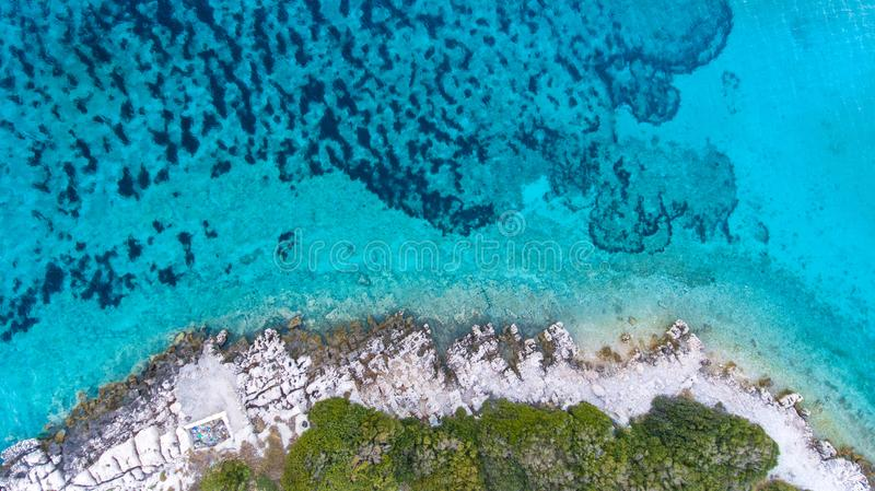 Aerial Photography of Island royalty free stock photos