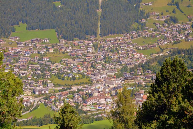 Aerial Photography, Mountain Village, Suburb, Bird's Eye View royalty free stock photography