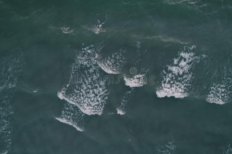 Aerial Photography of Ocean Waves at Daytime stock photos