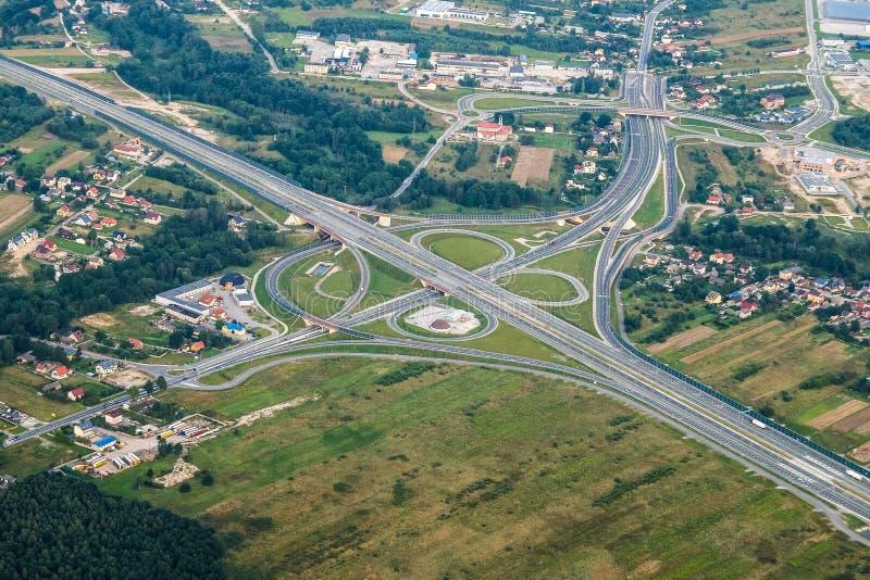 Aerial Photography, Road, Bird's Eye View, Metropolitan Area royalty free stock photo