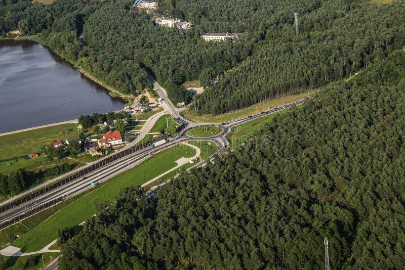 Aerial Photography, Road, Bird's Eye View, Waterway stock image