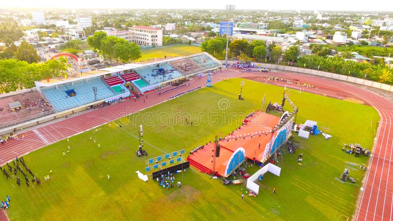 Aerial Photography of Stadium stock photography
