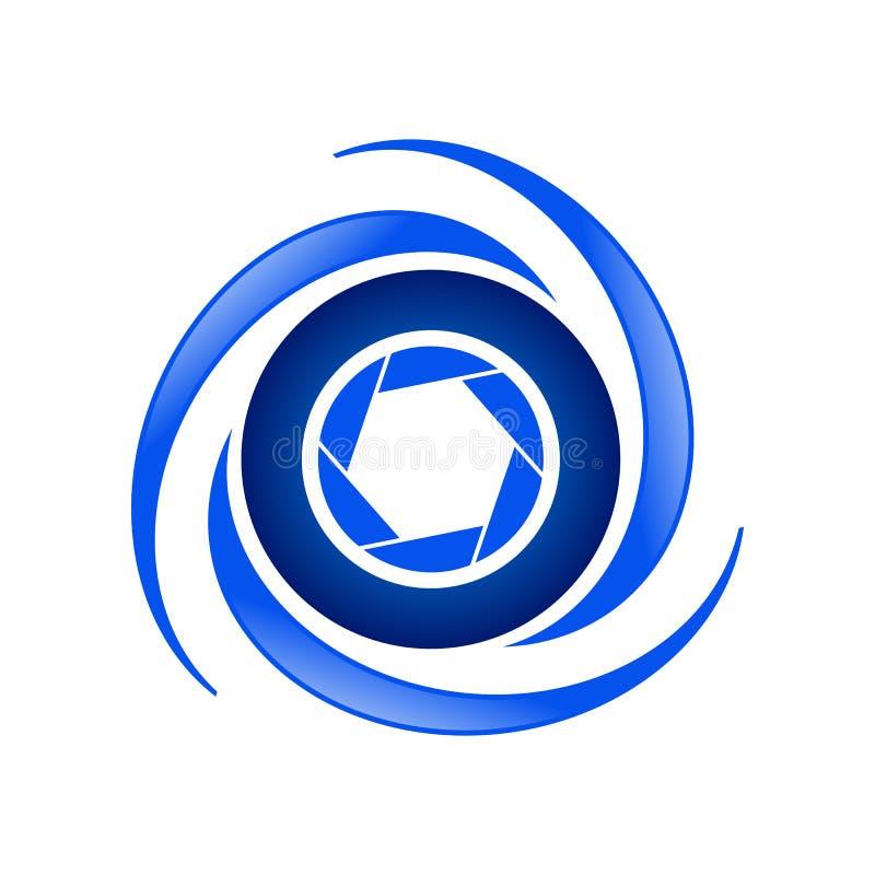 Aerial Photography Geometrical Symbol Design. Aerial Photography Vector Geometrical Symbol Graphic Logo Design vector illustration