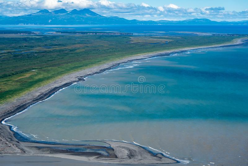 Aerial photography view of Alaska`s Katmai National Park. royalty free stock photography