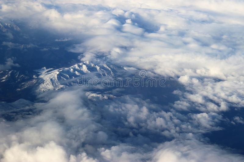 Aerial Photography of White Clouds stock photos