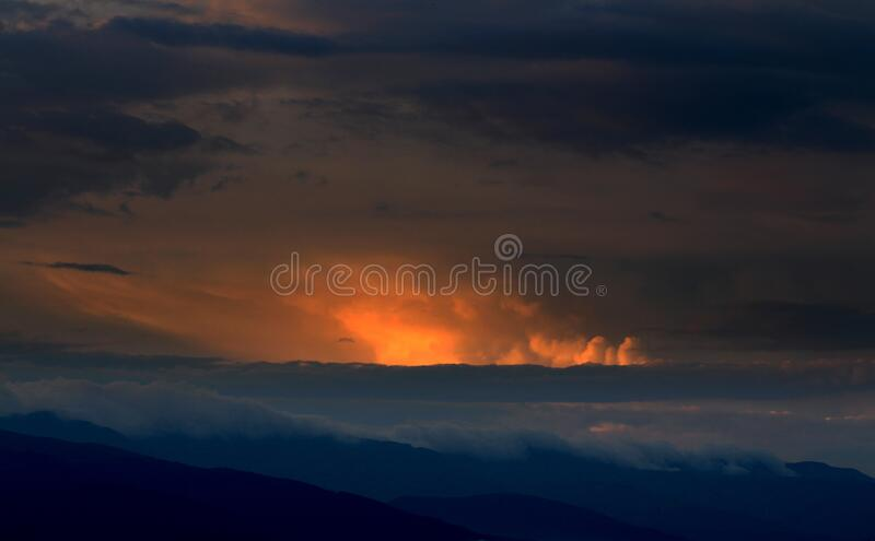 Aerial Photography of White Sky during Sunset royalty free stock photography