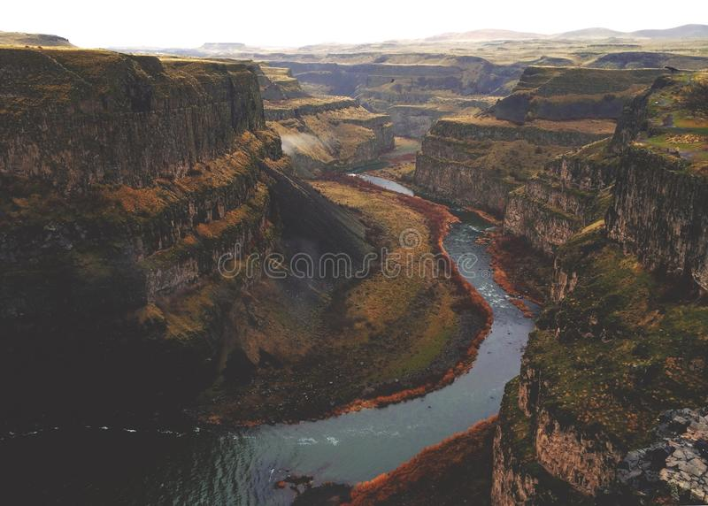 Aerial Picture Of Mountains And River Free Public Domain Cc0 Image
