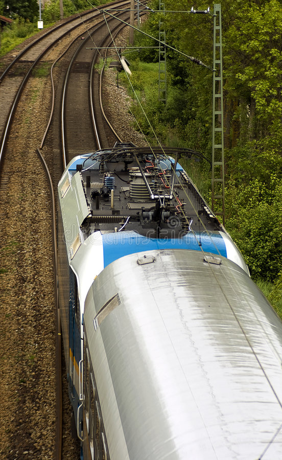 Free Aerial Picture Of Passing Train Stock Images - 9251814