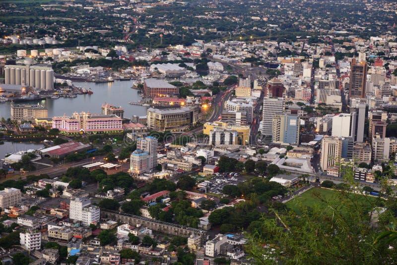 Aerial Port louis Mauriitus royalty free stock photo