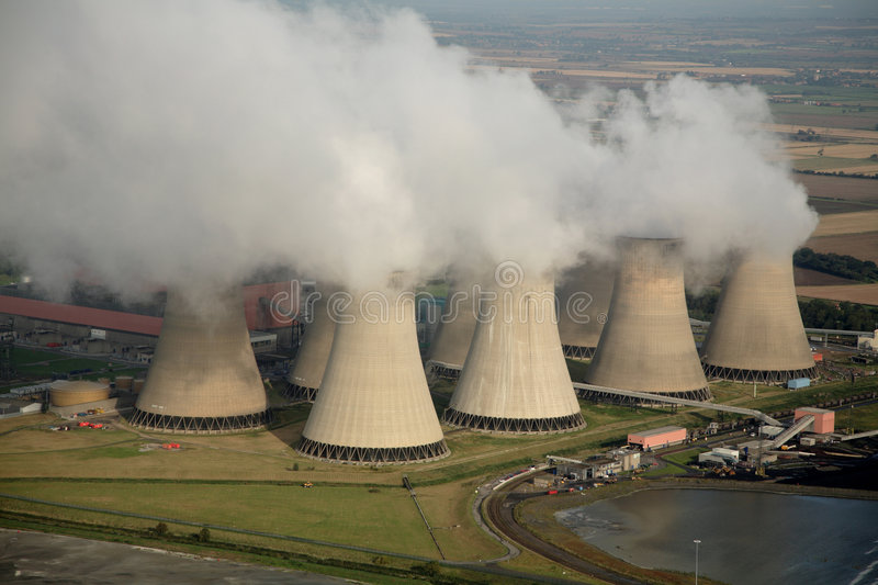 Aerial of Power Station royalty free stock photos