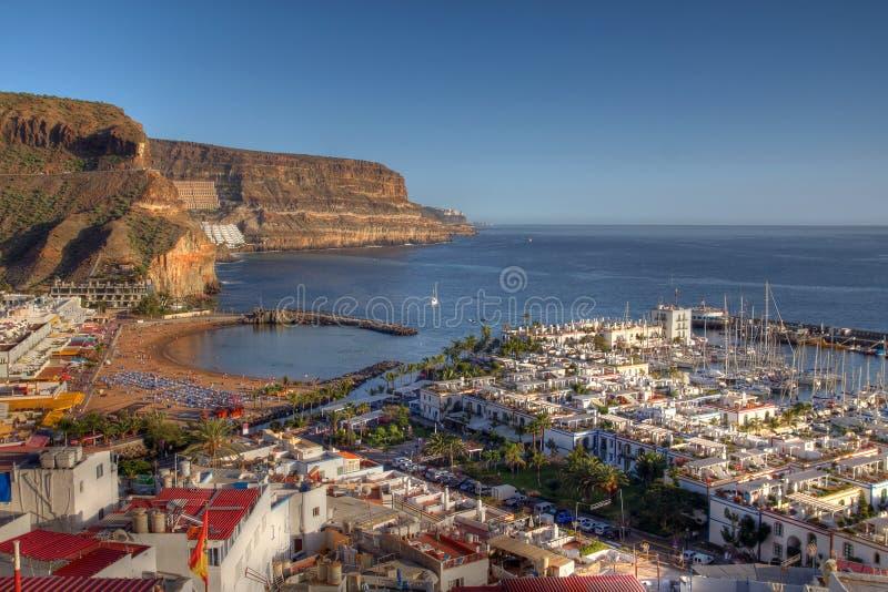 Aerial of Puerto de Mogan Gran Canaria Spain royalty free stock image