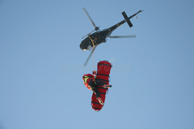 Aerial Rescue Platform stock photography