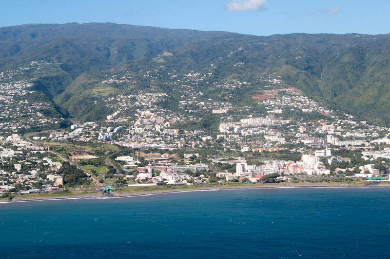 Download Aerial Reunion island stock image. Image of island, aerial - 20860503