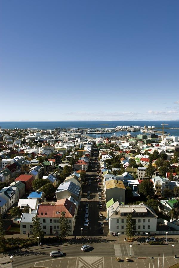 Download Aerial Reykjavik stock photo. Image of fjord, blue, above - 16333818