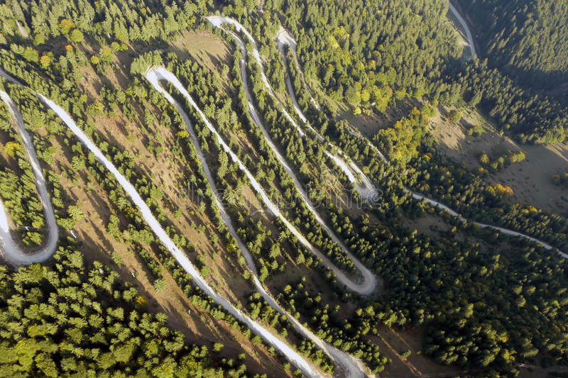 Aerial road stock photography