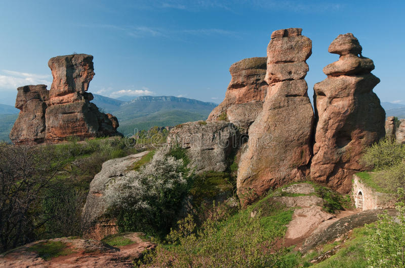 Aerial rock forms stock photography