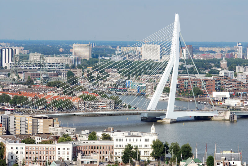 Download Aerial Rotterdam editorial image. Image of sunny, aerial - 2845135