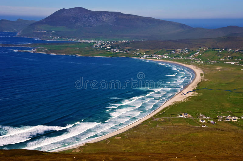 Aerial sescape capture from the west of ireland royalty free stock image