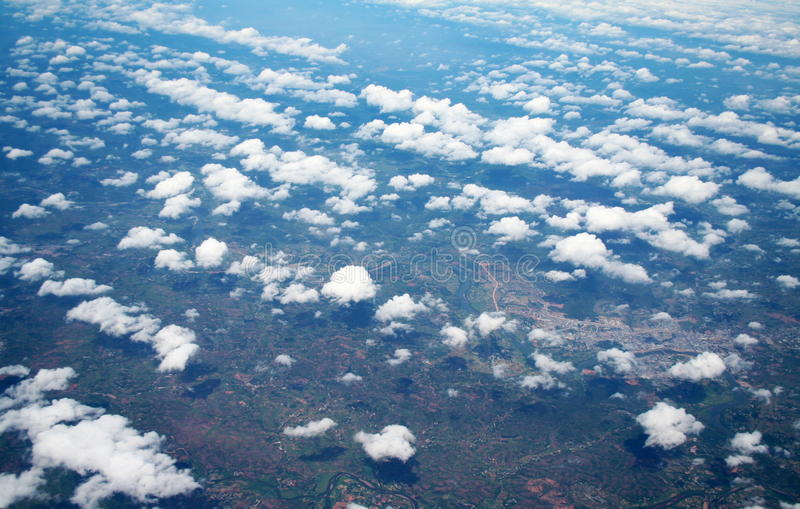 Aerial shot royalty free stock photography