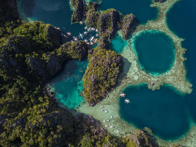 Coron island in palawan philippines royalty free stock photos