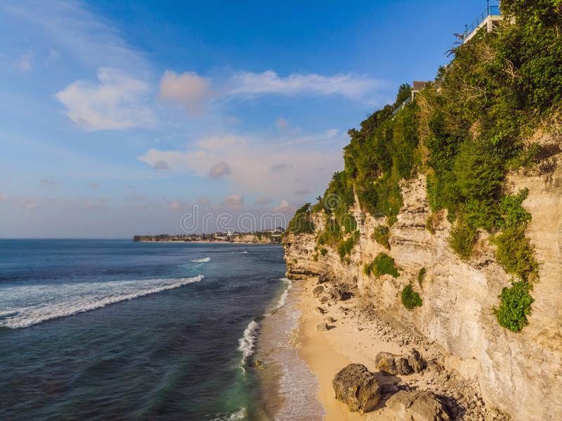 Aerial shot. Photos from the drone. Beach Dreamland Bali Indonesia royalty free stock photo