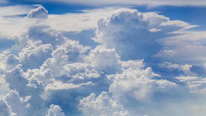 Aerial Shot of Sky with Clouds. Aerial Shot of Sky Background with Clouds royalty free stock photos