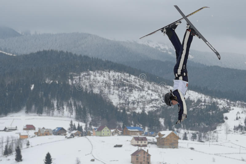 Aerial skiing
