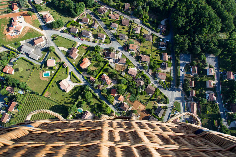 Aerial of suburbs. stock photo