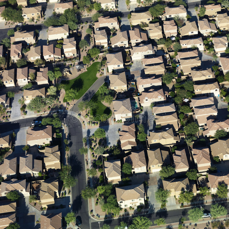 Download Aerial of suburbs. stock photo. Image of nobody, outdoors - 3469372