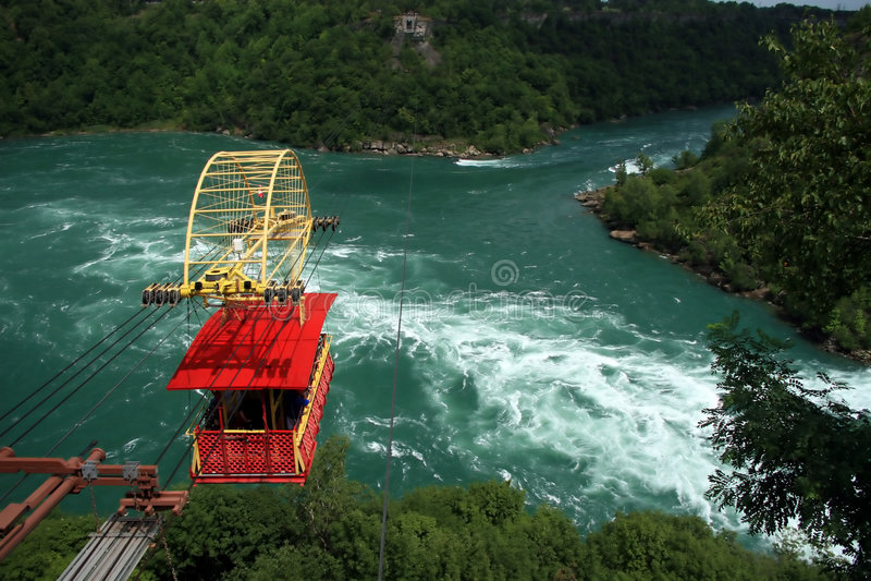 Aerial Tram at Niagara Falls. The Spanish Aerial Tram Crosses the Niagara River near Niagara Falls royalty free stock image