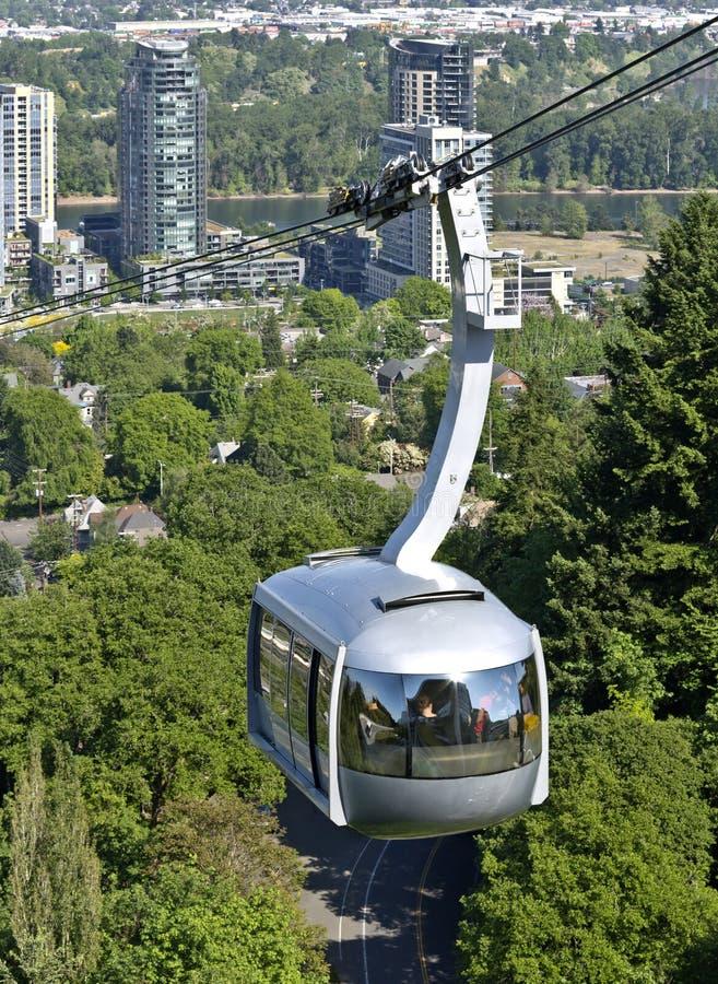 Aerial tram, Portland OR. royalty free stock image