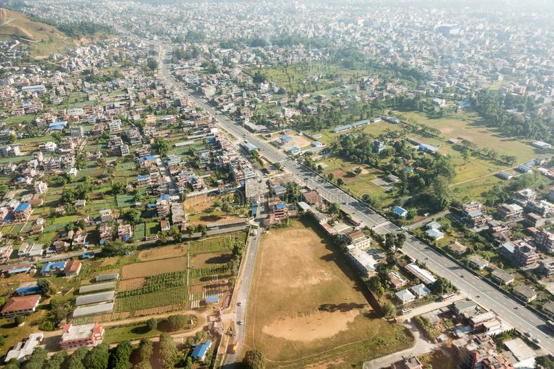Aerial Urban Development in Third World Country. An aerial view of the urban development in a third world country royalty free stock images