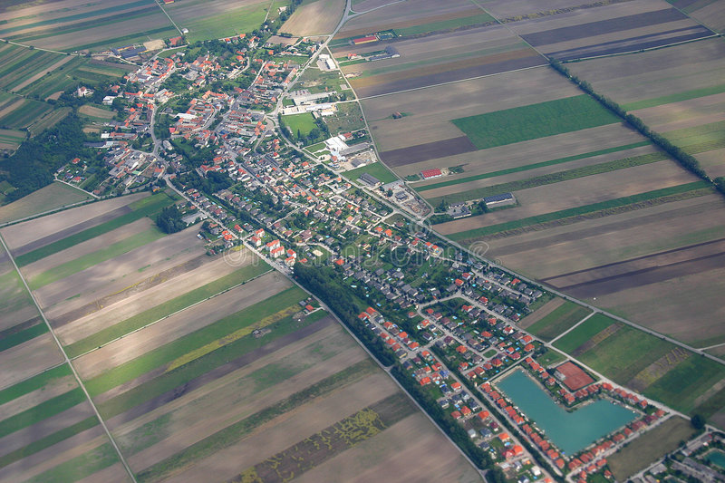 Download Aerial View stock photo. Image of suburb, town, arriving - 231562