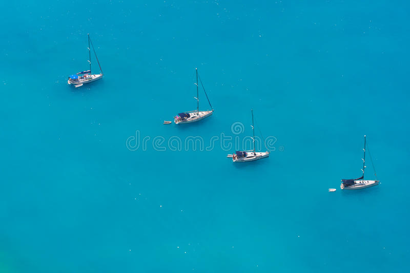 Download Aerial View Of 4 Sailing Boats Stock Photo - Image of panoramic, mediterranean: 16007920