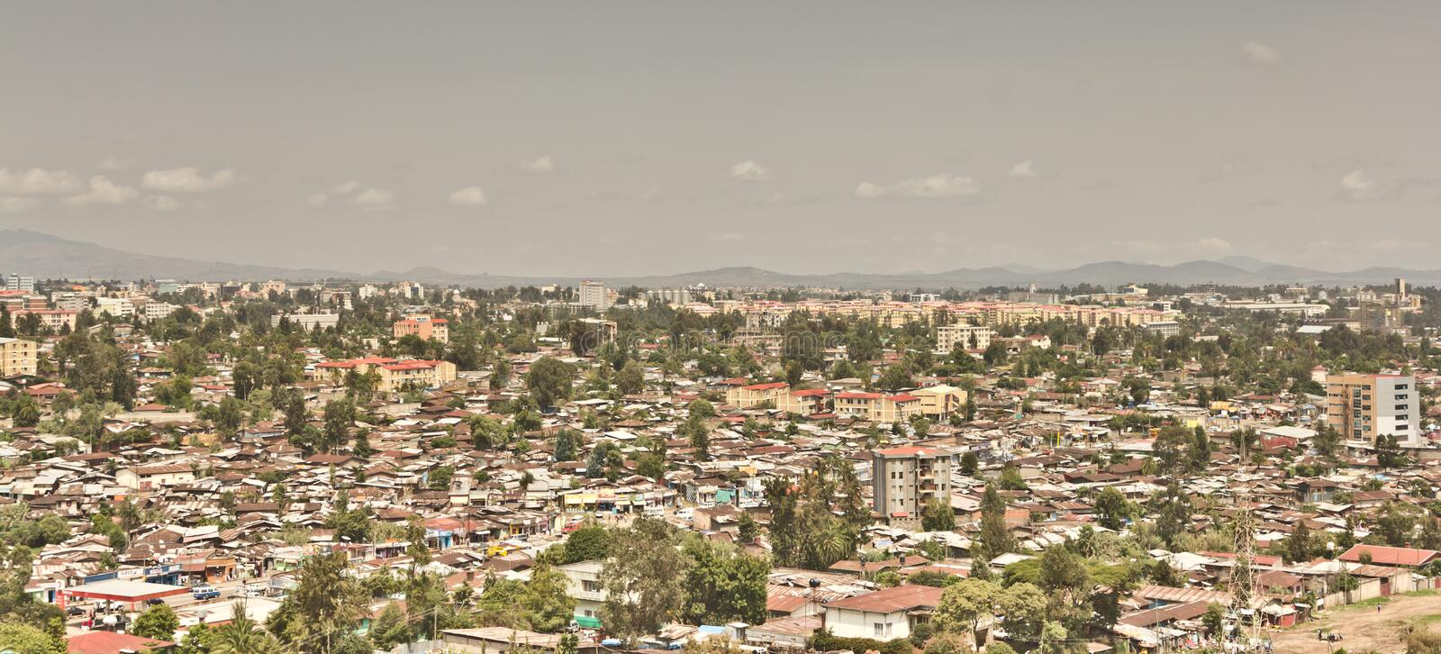 Download Aerial view of Addis Ababa stock photo. Image of city - 25590134